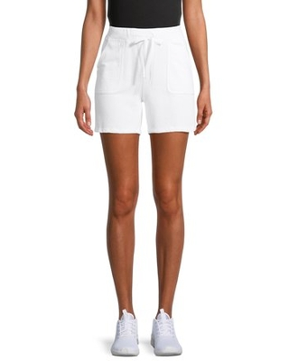 Women's Active Drawstring French Terry Shorts - silverwear