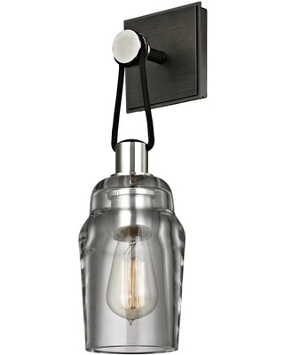 Citizen 75 in W 1 Light Graphite Polished Nickel Modern Contemporary Wall Sconce B5991 - troy lighting