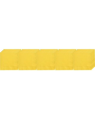 Sunshine Yellow 3-Ply Dinner Napkins   Pack of 20   Party Supply