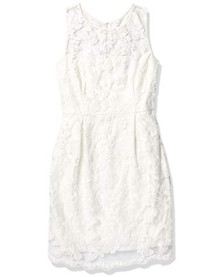 Women's Sleeveless Lace and Sequin Dress - donna ricco