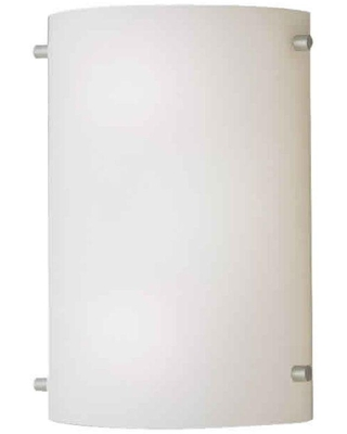 Lucian 2 Light Brushed Nickel Sconce with Satin Opal Glass - forte lighting
