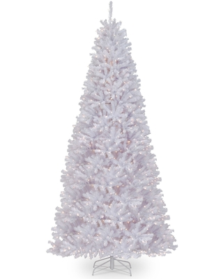 12' Pre Lit Medium North Valley Spruce Artificial Christmas Tree Clear Lights - national tree
