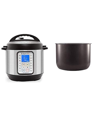 Duo Plus 9 in 1 Electric Pressure Cooker Sterilizer Slow Cooker Rice Cooker Steamer 15 One Touch Programs & Ceramic Non Stick Interior Coated Inner Cooking Pot - instant pot
