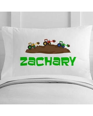 Personalized Little Builder Toddler Pillow Case - 4 wooden shoes