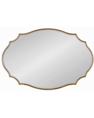 Kate & Laurel Leanna Scalloped Oval Wall Mirror - kate and laurel