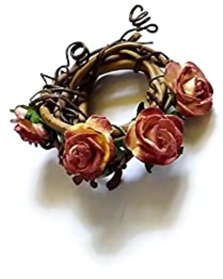 Thanksgiving Napkin Rings in Vine and Flowers pcs - relaxingrecoveries