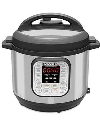 Duo 7 in 1 Electric Pressure Cooker Slow Cooker Rice Cooker Steamer Saute Yogurt Maker Warmer & Sterilizer Stainless Steel - instant pot
