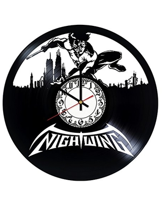 Nightwing Handmade Vinyl Record Wall Clock Get unique room wall decor Gift ideas for his and her - Modern Unique Home Art Design - girls art boutique
