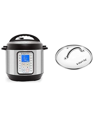 Duo Plus 9 in 1 Electric Pressure Cooker Sterilizer Slow Cooker Rice Cooker Steamer Saute 15 One Touch Programs & ant Pot Tempered Glass lid Clear 10 Inch - instant pot