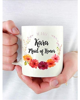Personalized Bridal Party Gift Coffee Mug Great for Bridesmaid Proposals - luckten