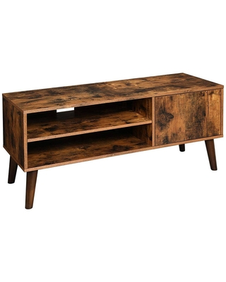 Wooden 2 Open Compartment and 1 Door Cabinet TV Stand for TVs up to - benzara