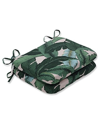 Outdoor Indoor Swaying Palms Capri Round Corner Seat Cushions 2 Count - pillow perfect