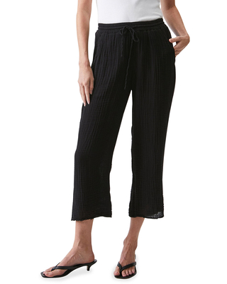 Ashton Pull On Tapered Cropped Pants - michael stars