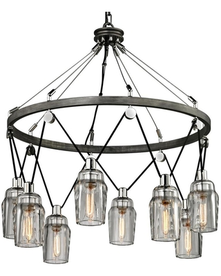 Citizen Graphite Polished Nickel Modern Contemporary Geometric Large Larger Than 22 in Pendant Light F5998 - troy lighting