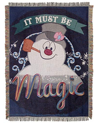 """""""It's Magic"""" Woven Tapestry Throw Blanket Multi Color - frosty the snowman"""