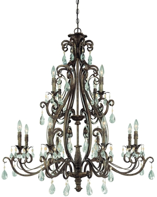 Englewood 40 Inch 12 Light Chandelier Englewood 25612 FR Traditional - craftmade