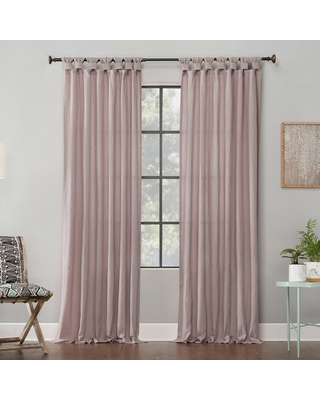 ashed Cotton Twisted Tab Light Filtering Curtain Panel - archaeo