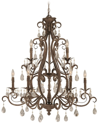 Englewood 34 Inch 9 Light Chandelier Englewood 25629 FR Traditional - craftmade