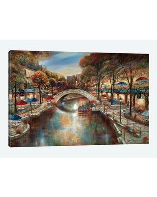 Evening on The Canal' Graphic Art Print on Canvas - east urban home