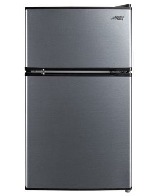 2 Cu ft Two Door Compact Refrigerator with Freezer Stainless Steel E star - arctic king