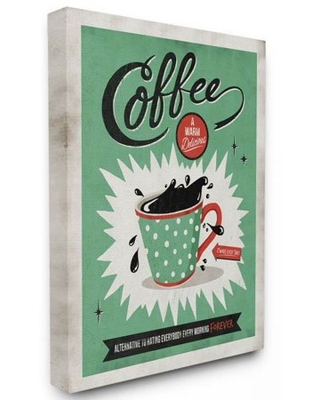 Stupell Industries Coffee Cure Vintage Comic Book Design Canvas Wall Art by Ester Kay - stupell home d cor
