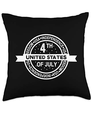 American Gift Throw Pillow 18x18 - 4th of july