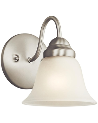 Wynberg 1 Light Brushed Nickel Wall Sconce with Satin Etched Glass Shade - kichler