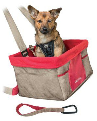 Kurgo Heather Booster Seat Pet Carrier Polyester in Red/Brown, Size 8.0 H x 16.0 W x 12.0 D in | Wayfair K01601