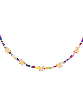 Butterfly Station Beaded Choker Necklace at Nordstrom - adina's jewels