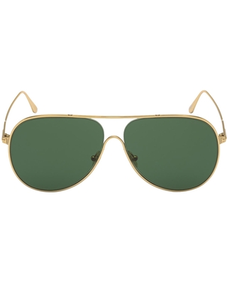 Alec Gradient Polarized Aviator Sunglasses in Shiny Deep at Nordstrom - tom ford