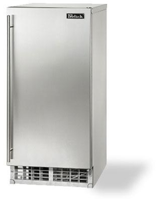 H80CIMS ADR door Outdoor Stainless Steel Cubelet Ice Maker with 80 lb Daily Ice Production 22 lb Storage ADA Compliant Stainless Steel - perlick