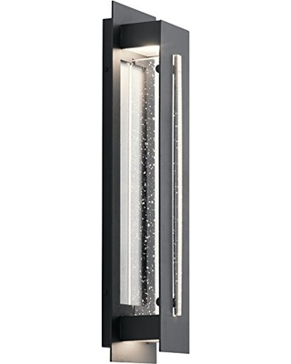 River Path LED Outdoor Wall Light with Clear Seeded Glass - kichler
