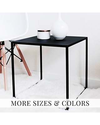 Minimal Cube Shaped Side Table Stool End Table or Nightstand - patrick cain designs