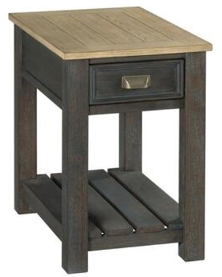 Lyle Creek Hamilton Collection 953 916 CHAIRSIDE TABLE in Toasted Caramel and Smoked - hammary