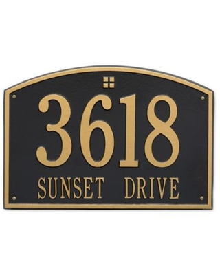 2 Line Personalized Address Wall - whitehall products