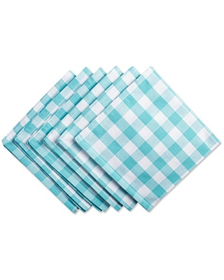 Checkered Collection Tabletop Napkin Set 6 Count - dii