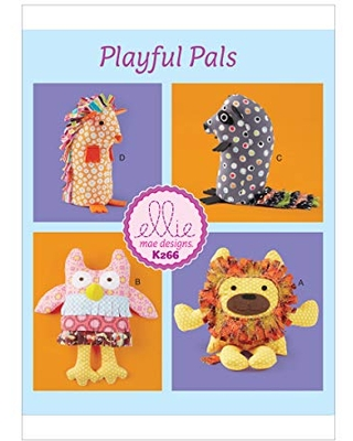Kwik Baby's Animal Toy Sewing Patterns by Ellie Mage Designs One Size Only various - kwik-sew patterns