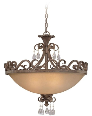 Englewood 24 in French Roast Incandescent Semi flush Mount Light 25634 FR - craftmade