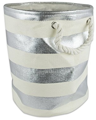 CAMZ35029 Woven Paper Collapsible Laundry Hamper Storage Basket Round - dii