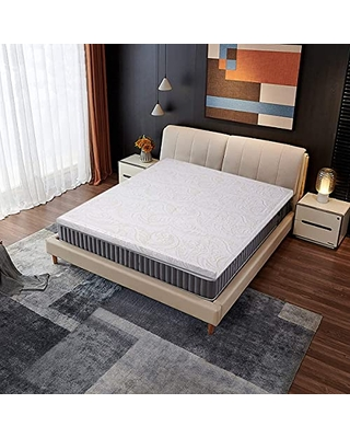 Mattress Topper Queen 2 Inch Gel Infused Memory Foam Mattress Pad with Washable Cover Pressure Relief Bed Topper - iululu