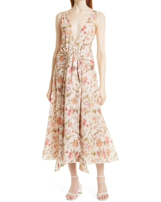 Tie Front Maxi Dress at Nordstrom - rebecca taylor