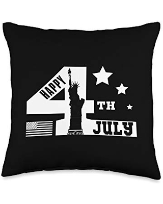 4th of July American Gift Throw Pillow 16x16 - happy 4th of july
