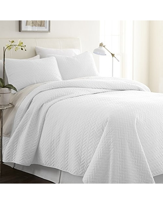 Quilted Coverlet Set Patterned Queen - linen market