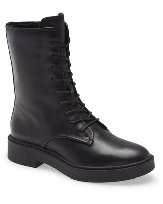 Kady Lace Up Leather Bootie at Nordstrom - vince
