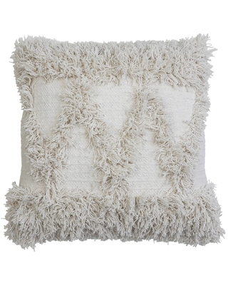 Oversize Alfie Square Throw Pillow with Fringes - decor therapy