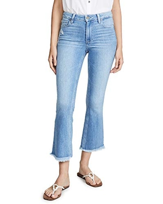 Women's Colette Crop Flare Jeans with Fray Hem - paige