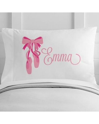 Personalized Ballerina Toddler Pillow Case - 4 wooden shoes