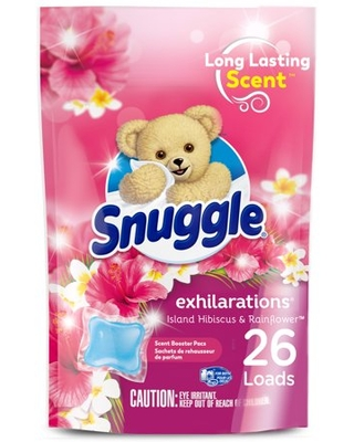 Exhilarations In Wash Laundry Scent Booster Pacs Island Hibiscus and Rainflower Count - snuggle