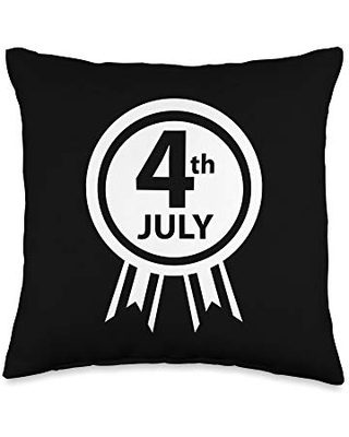 American Gift Throw Pillow 16x16 - 4th of july