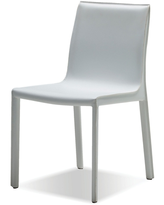 Fleur Pure Leather Dining Chair - mobital